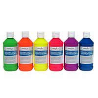 Washable Fluorescent Liquid Watercolors
